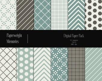Flying Away - digital patterned paper - Instant Download -  digital scrapbooking - patterned paper - Commercial use