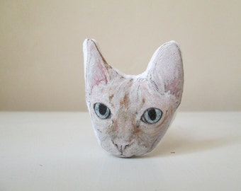 sphynx cat gift idea for cat lover for pet owner animal brooch handpainted