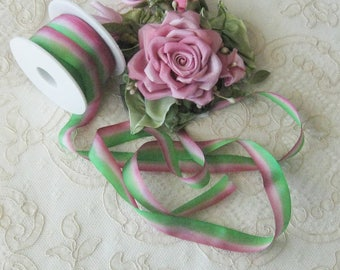 Hand Dyed Silk Ribbon (13mm) 1/2 inch - 5 yards - Ribbonwork, Embroidery, Sewing, Crafts