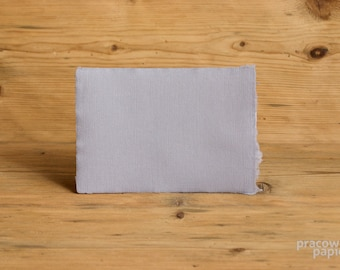 1 pcs. Handmade Paper 5,9 x 8,3 in Size (A5) Gray Color Suitable for Calligraphy