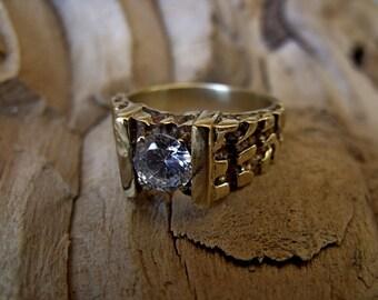 Custom  18K Gold Men's Ring with 1ct Diamond RF171