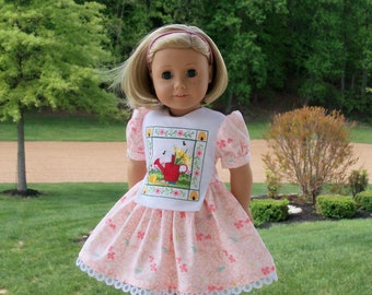 """Like American Girl Doll Clothes / Farmcookies Embroidered Dress and Shoes for 18"""" Dolls / 18"""" Doll Clothes"""
