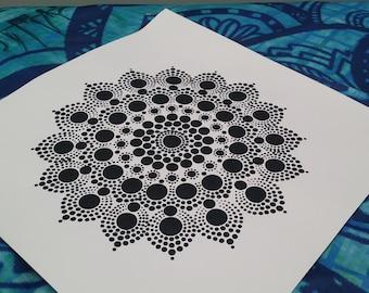 Hand Painted Mandala Painting