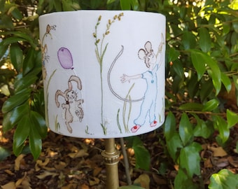 Hand Embroidery pattern. Lampshade design. Nursery art. Hand embroidered design. Modern hand embroidery.