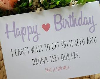 Drunk Text Birthday Card