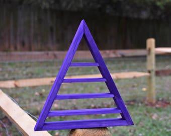 Purple Metallic Pearl Crystal Charging Triangle Display Shelf