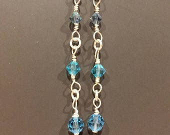 Swarovski Blues Earrings