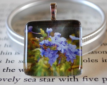 10 Dollar Deal - 10 and Under - Photo Pendant - Flower Pendant - Take My Breath Glass Tile Pendant by Happy Shack Designs