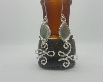 New beginnings Celtic design and seaglass Earrings
