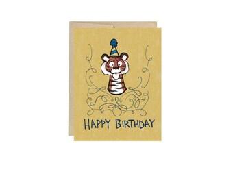 Happy Birthday Tiger - Card Blank Inside