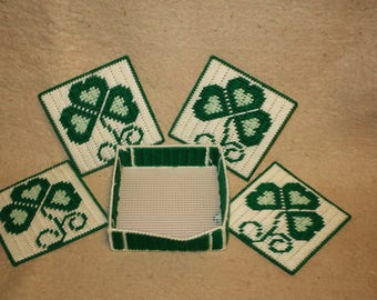 Clover leaf coasters