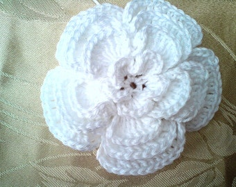 Instant Download PDF Crochet Pattern - 4 Layer Big Crochet flower with open centre