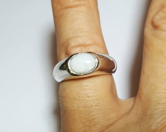 Opal Silver Ring from Australia