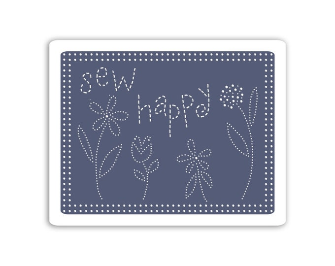Sizzix Textured Impressions Embossing Folders - Sew Happy by Eileen Hull 660770