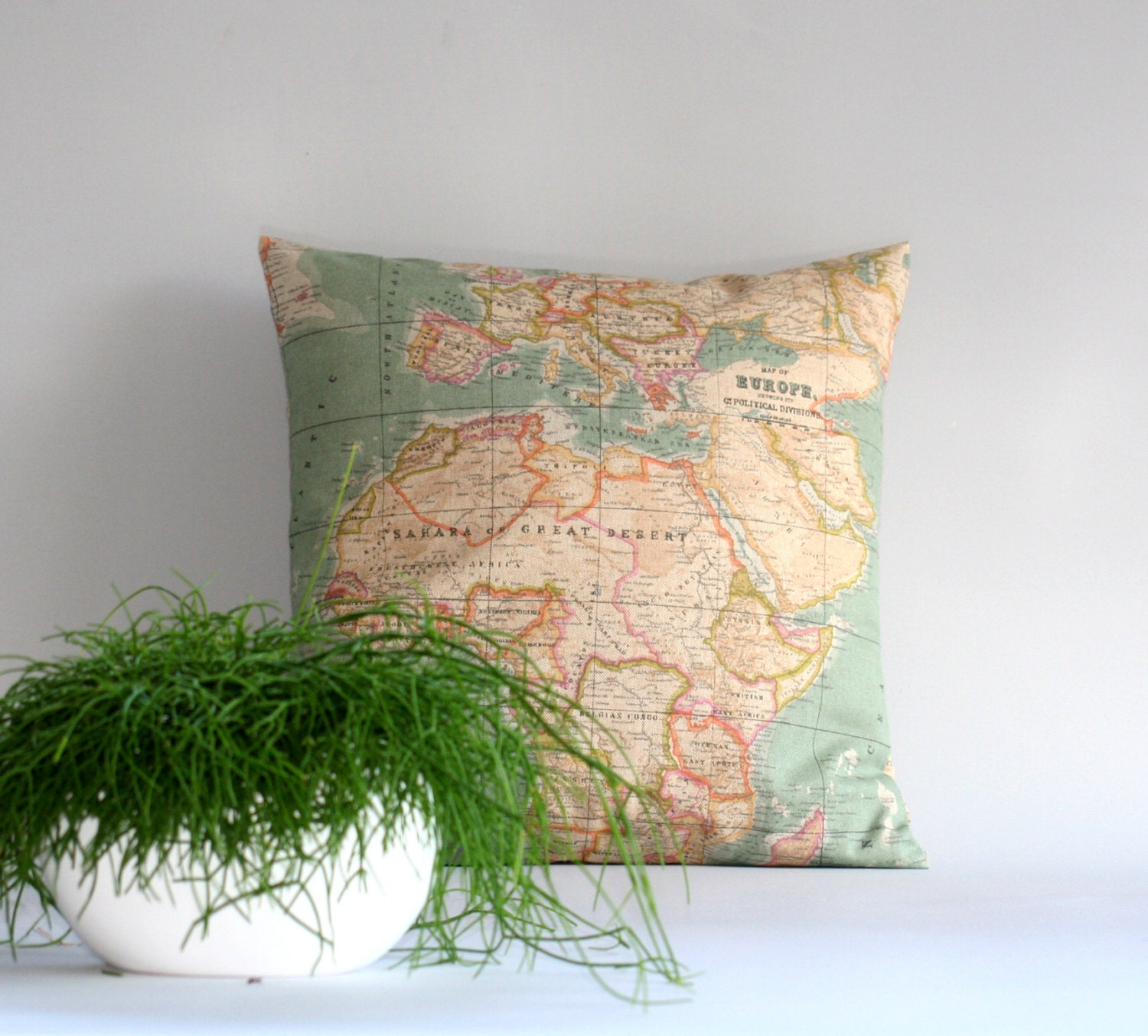 World Map pillow cover Throw pillow cover Cushion cover