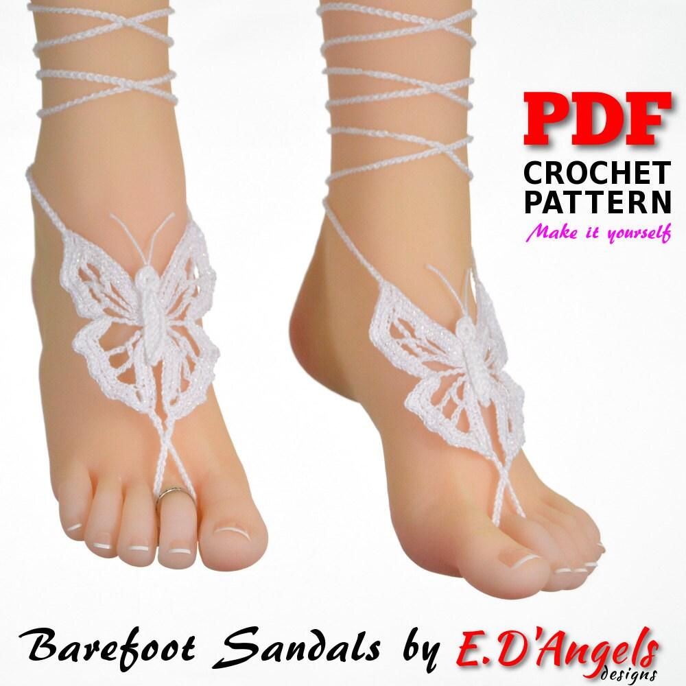 Crochet Pattern, Barefoot Sandals Pattern, Barefoot Pattern ...