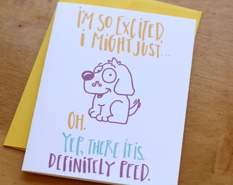 Excited Dog Card