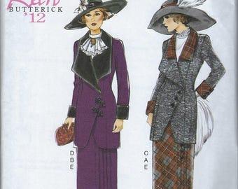 Butterick B6108 Retro Butterick 12 Historic Suit Jacket Pleated Skirt Size 6 8 10 12 14 or 14 16 18 20 22 Uncut Factory Folded Reprint