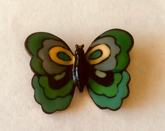Vintage 1970's Eisenberg Enamel Butterfly Artist Series Brooch