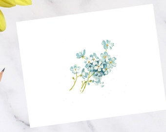 Forget Me Not Floral Note Cards
