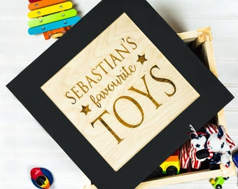 Personalised Children's Toy Box