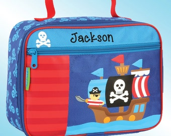 Lunchbox - Personalized and Embroidered - Fully Insulated - PIRATE SHIP