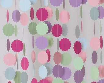 1.5 In. Pastel Multi Colored Garland
