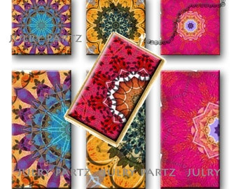 Bohemian Mandala SETS in 1x1 Tiles and 1x2 Tiles Printable Digital Images, Cards, Gift Tags, Scrabble tiles, sets