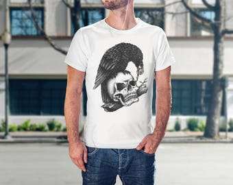 Gifts For Him 2018 - Gothic Gift For Him - Raven Clothing - Mens Gothic T-Shirt - Gothic T-Shirt Tee - Gothic Gift Idea - Art Gift Boyfriend