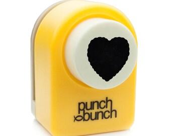 Scalloped Heart Punch - Medium 17mm