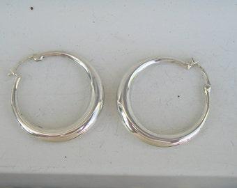 PAJ  Sterling Silver 925 China Hoop Style Earrings