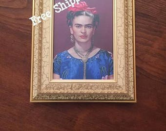 "Framed Frida Kahlo in Coyoacan Photograph - 8"" x 10"" - Free Shipping!"