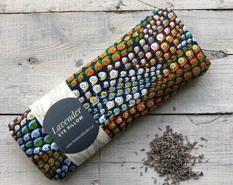 lavender eye pillow / flax seed heated eye pad / microwave heating pad / eye mask / sleep mask / yoga / snails