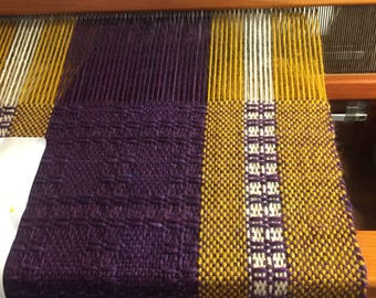 Hand Woven Wool Wrap Shawl Scarf