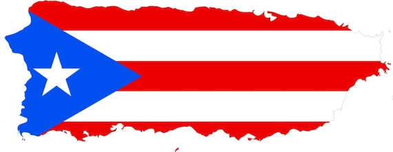 2 pieces puerto rico outline map flag vinyl decals stickers full color weather proof u s a free shipping