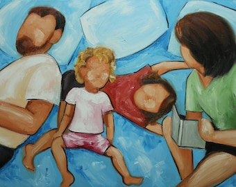 Commission your own Bed Chaos custom portrait oil painting by Roz