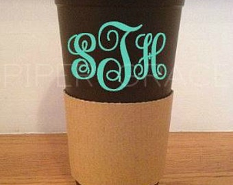 Travel Coffee Cup, Monogram Coffee Tumbler, Monogrammed Gifts, Personalized Gift,