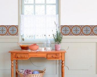 Pflasterung Muster Fliesen Sticker   Set Mit 4 Fliesen   Fliesen Aufkleber Kunst  Für Wände Küche Backsplash Akzent Küche Bad