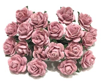 Dusky Pink Open Roses Or024