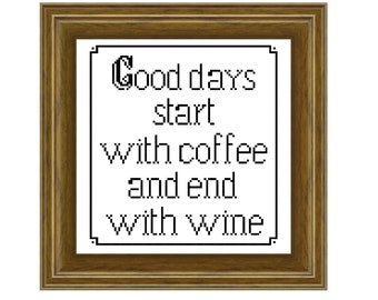Good days - Cross stitch pattern PDF. Instant download