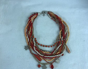 Beads multil layer necklace .
