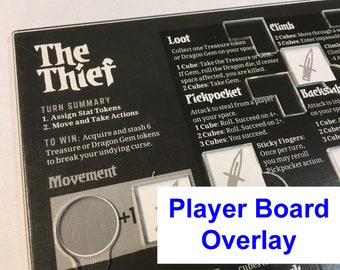 Vast: The Crystal Caverns Player Board Overlay -THIEF