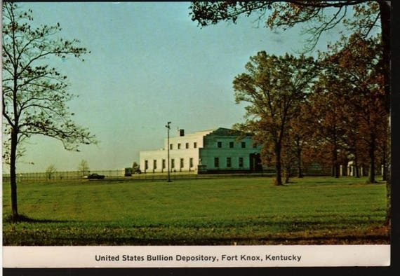 United States Bullion Depository + Fort Knox, Kentucky + Vintage Souvenir Postcard