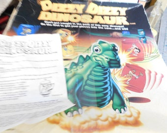 Dizzy Dizzy Dinosaur Game, Vintage 80s Board Game, Vintage Child's Game, Vintage Board Game, Family Game Night,