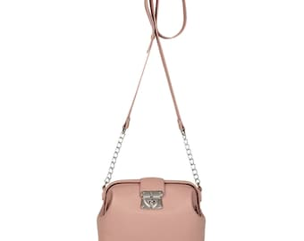 Leather Cross body Bag, Tourmaline Leather Shoulder Bag, Women's Leather Crossbody Bag, Leather bag KF-1347