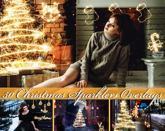 50 Christmas Sparklers Photoshop Overlays Christmas Sparklers Overlays Sparklers Clipart Sparklers Photo Overlays Christmas Photo Overlays