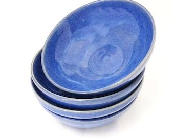 Bright Blue Ceramic Bowls, Snack Size, Bright Blue Ceramic Bowl, Snack Bowl, Nut Bowl, Prep Bowl, Decorative Bowl, Small Bowl