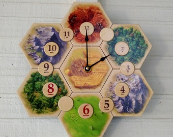 Settlers of Catan Board Game Clock - 5th edition