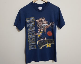 Vintage Michigan Wolverines basketball, 80s Michigan Wolverines, Wolverines basketball, collegiate, university, size men's XS