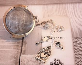 Jane Austen Inspired Tea Infuser With Removable Charm - Tea Ball - Literature Tea Infuser - Tea Accessories - Literature - Bookish